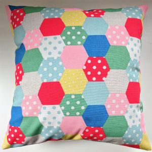 Cushion Cover in Cath Kidston Hexagon Patchwork 16""